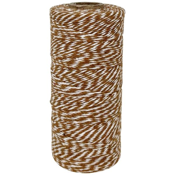 ECO Bakers Twine 240yd 4Ply Striped Brown