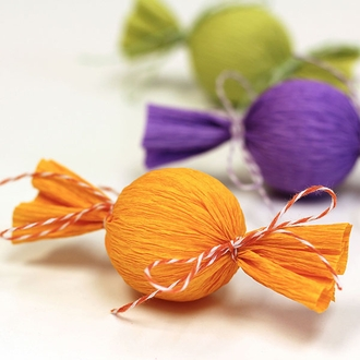 ECO Bakers Twine 240yd 4Ply Striped Pumpkin