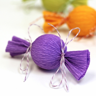ECO Bakers Twine  50yd 4Ply Striped Lavender