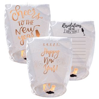 ECO Wire-Free Eclipse Sky Lantern 3pcs New Years Eve Collection