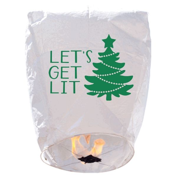 ECO Wire-Free Eclipse Sky Lantern Get Lit Christmas Tree