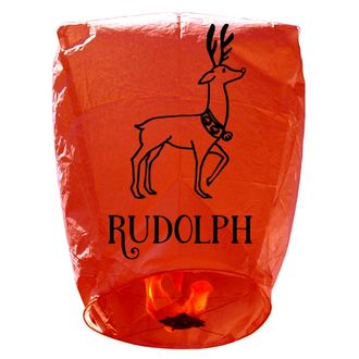 ECO Wire-Free Eclipse Sky Lantern Red Reindeer Rudolph