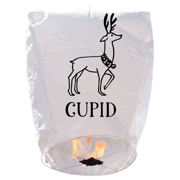 ECO Wire-Free Eclipse Sky Lantern Reindeer Cupid