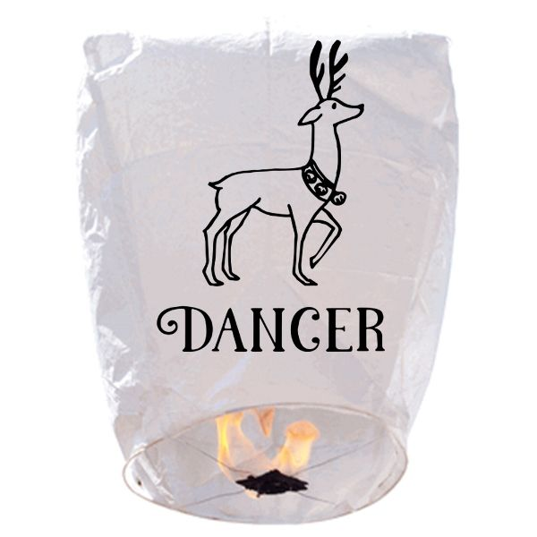 ECO Wire-Free Eclipse Sky Lantern Reindeer Dancer