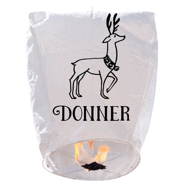 ECO Wire-Free Eclipse Sky Lantern Reindeer Donner