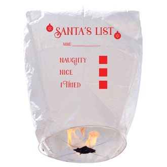 ECO Wire-Free Eclipse Sky Lantern Santa's Naughty Nice List