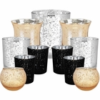 Elegant Midnight Metallic Glass Votive Candle Holders (11pcs, Midnight 1) - Premier