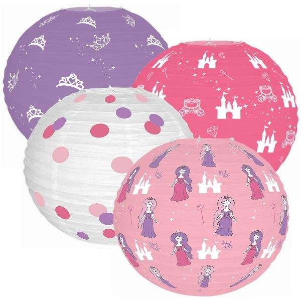 Fairytale Princess 4pcs 12inch Paper Lantern Kit