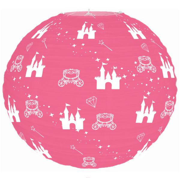 Fairytale Princess Pink Magical Castle 12inch Paper Lantern