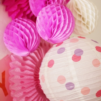 Fairytale Princess Polka Dots 12inch Paper Lantern