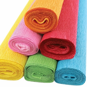 Fiesta Assorted Crepe Paper Roll Package 6pcs