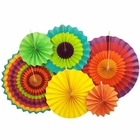 Fiesta Paper Pinwheel Decorating Kit 6pcs