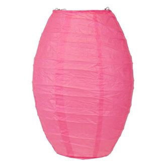 FINAL CLEARANCE 10in Cocoon Lantern Fuchsia