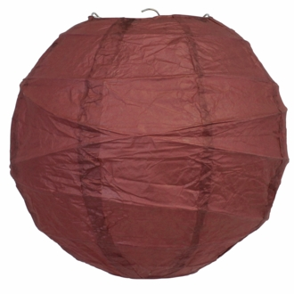FINAL CLEARANCE 10inch Free Style Paper Lantern Dark Red
