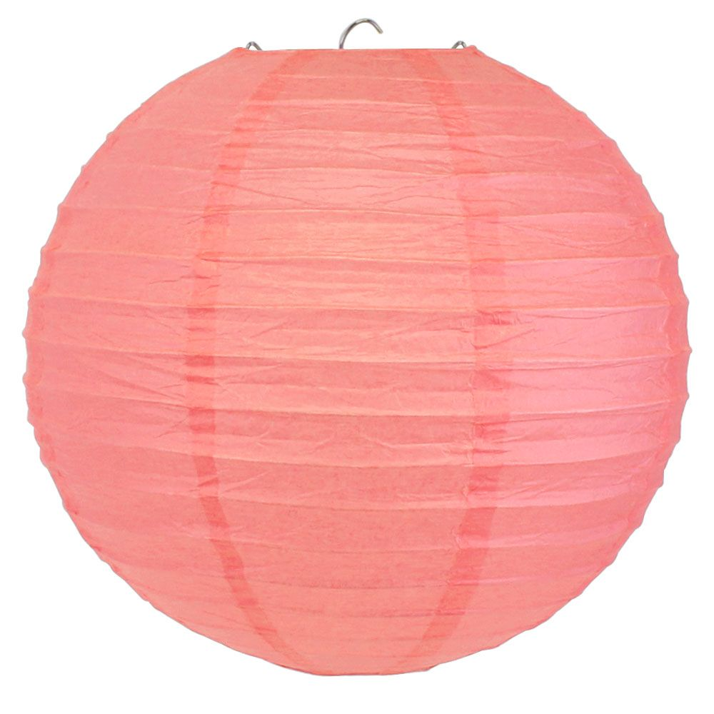 Final Clearance 10inch Paper Lantern Pink Rose