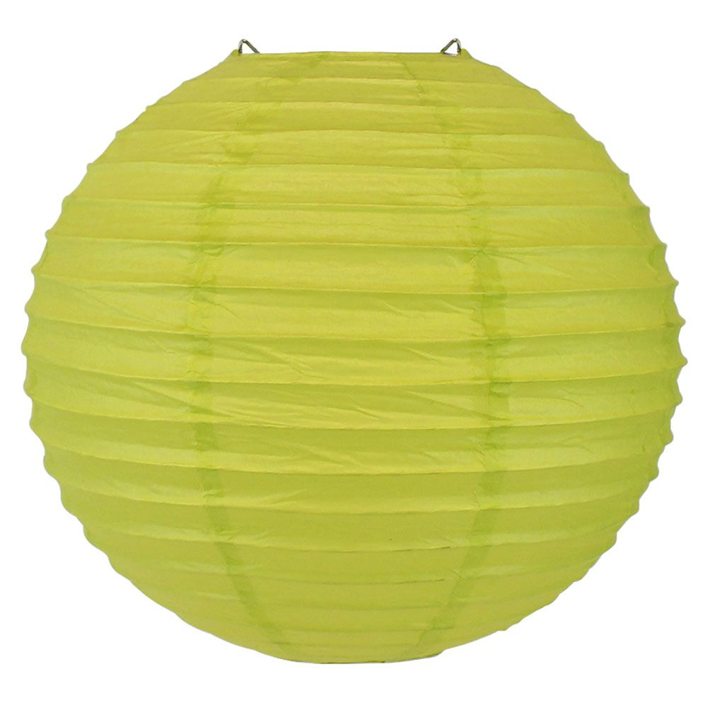 Final Clearance 12inch Paper Lantern Chartreuse