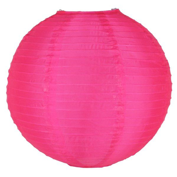 FINAL CLEARANCE 14in Silk Nylon Fuchsia Lantern