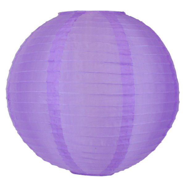 FINAL CLEARANCE 14in Silk Nylon Purple Lantern