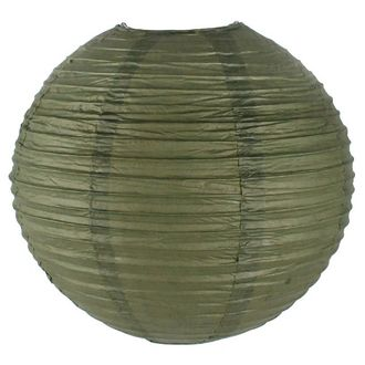 Final Clearance 14inch Paper Lantern Army Green