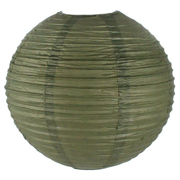 Final Clearance 16in Paper Lantern Army Green