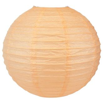 Final Clearance 18in Paper Lantern Cantaloupe