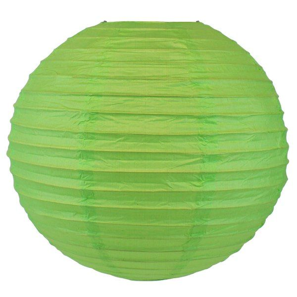 Final Clearance 18in Paper Lantern Grass Green