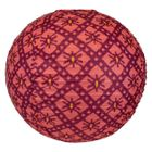 FINAL CLEARANCE 18in Rose Ikat Paper Lantern