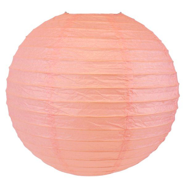 Final Clearance 20in Paper Lantern Rose Quartz