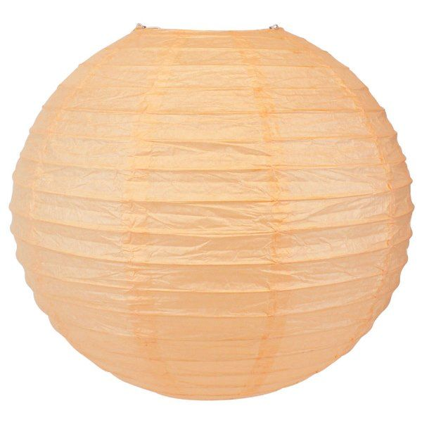 Final Clearance 24in Paper Lantern Cantaloupe