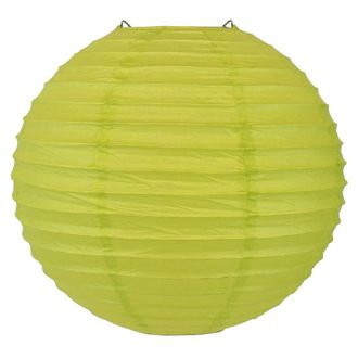 Final Clearance 24in Paper Lantern Chartreuse