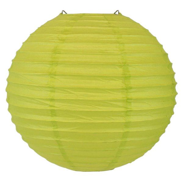 Final Clearance 30in Paper Lantern Chartreuse