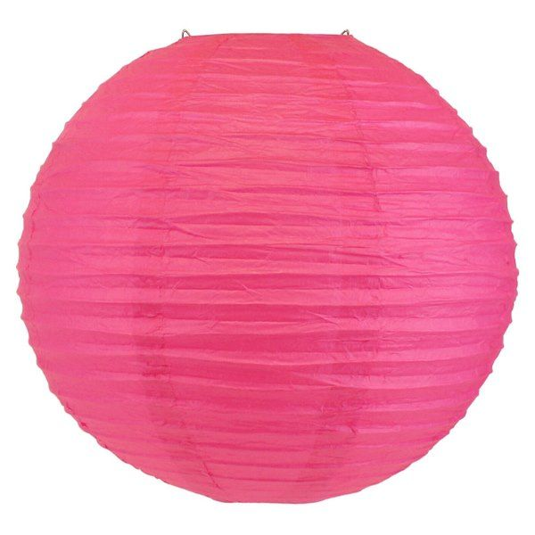 Final Clearance 30in Paper Lantern Hot Pink