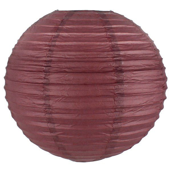 Final Clearance 6inch Paper Lantern Dark Red