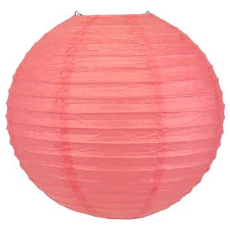 Final Clearance 8inch Paper Lantern Coral