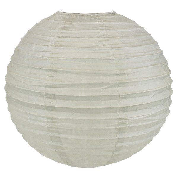 Final Clearance 8inch Paper Lantern Feather Grey