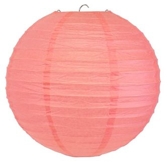 Final Clearance 8inch Paper Lantern Pink Rose