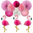 Flamingo Honeycomb Hanging Decorating Kit 11pcs