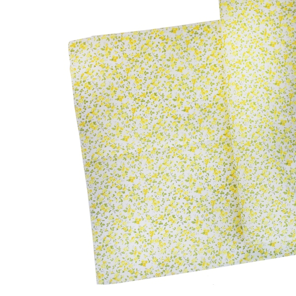 Floral Table Runner Lemonade Yellow