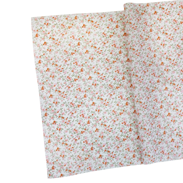 CLEARANCE Floral Table Runner Mango Orange