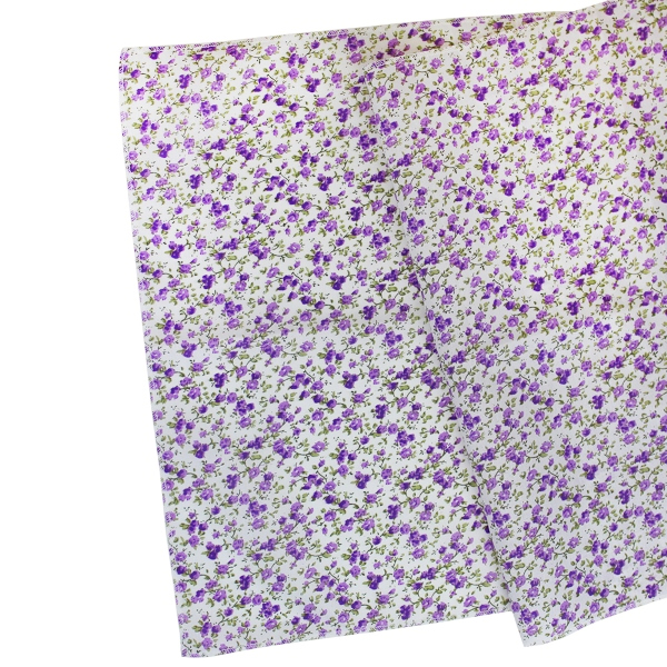 Floral Table Runner Plum Purple
