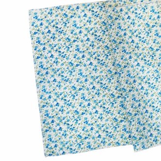 Floral Table Runner Turquoise