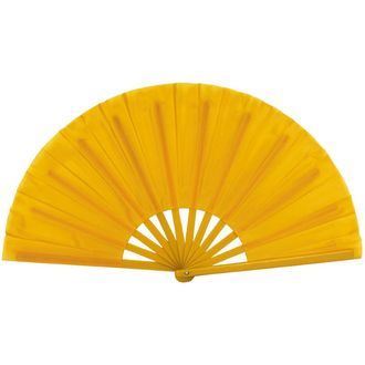 "Folding Silk Hand Fan 13"" Marigold"