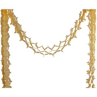 Four-Leaf Expandable Tissue Paper Garland Party Streamers (6 Pack, Champagne) - Premier