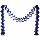 Four-Leaf Expandable Tissue Paper Garland Party Streamers (6 Pack, Royal Blue) - Premier