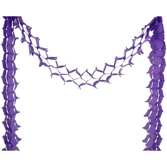 Four-Leaf Expandable Tissue Paper Garland Party Streamers (6 Pack, Violet Purple) - Premier
