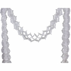 Four-Leaf Expandable Tissue Paper Garland Party Streamers (6 Pack, White) - Premier