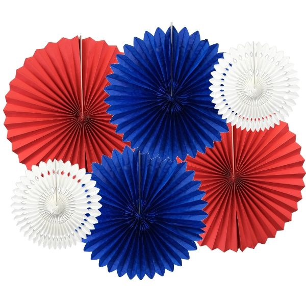 Freedom Pinwheel and Tissue Fan Decorating Kit 6pcs