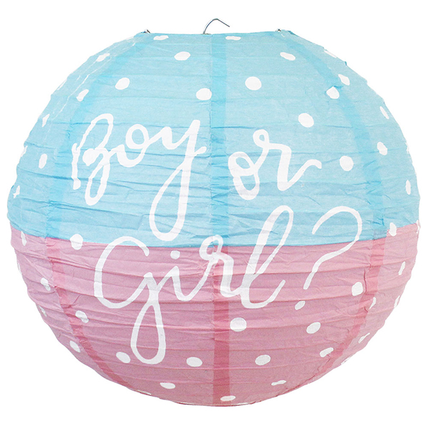 Gender Reveal Boy or Girl 12inch Paper Lantern
