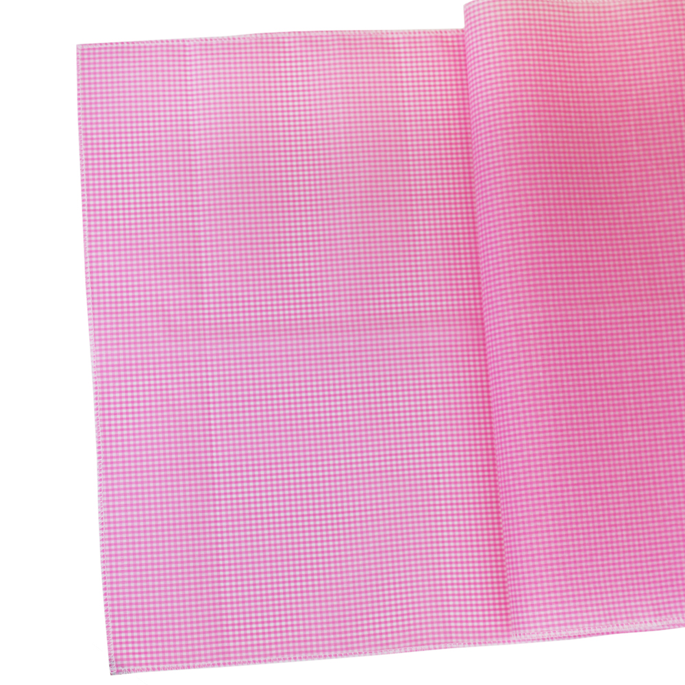 Gingham Cotton Table Runner Bambina Pink