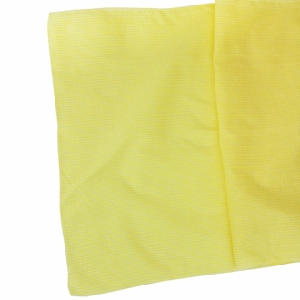 Gingham Cotton Table Runner Buttercup Yellow